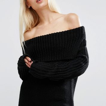 ASOS Jumper with Off Shoulder Detail