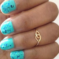 Above Knuckle Ring INFINITY Midi Ring Gold from azteclovers