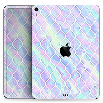 "Iridescent Dahlia v4 - Full Body Skin Decal for the Apple iPad Pro 12.9"", 11"", 10.5"", 9.7"", Air or Mini (All Models Available)"