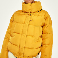 Light Before Dark Yellow Pillow Puffer Jacket | Urban Outfitters