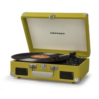 Crosley Cruiser Retro Turntable II CR8005C - Portable Battery Powered! - Green
