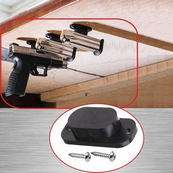 Concealed Magnetic Gun Pistol Holder Holster Under Desk Table Door Bed Magnet Gun magnet Hunting Accessories