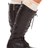 Amberly Leg Warmers - Ivory