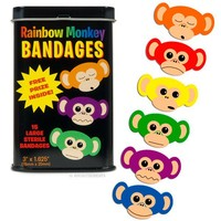Rainbow Monkey Bandages - Whimsical & Unique Gift Ideas for the Coolest Gift Givers