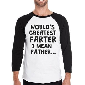 Farter I Mean Father Mens Baseball Shirt Filial