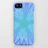 Purple Green and Blue Kaleidoscope Print iPhone & iPod Case by Dawn Cavender