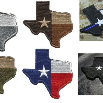 custom Texas State Flag map patches hook back USA army  morale Patches  tactical military for coat vest