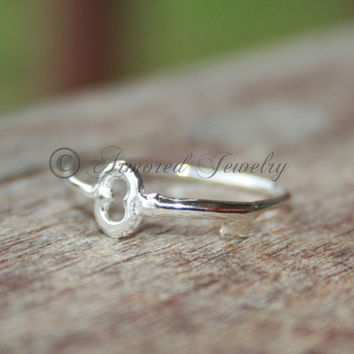 Key to my heart Ring - Sterling silver