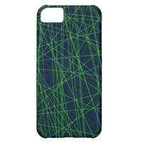 Technology Computer Nerd Lime Green Navy blue iPhone 5C Cases