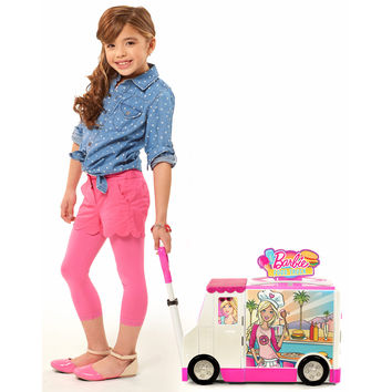 Barbie Food Truck w/Light-Up Oven and Grill Cash Register Ages 3-6