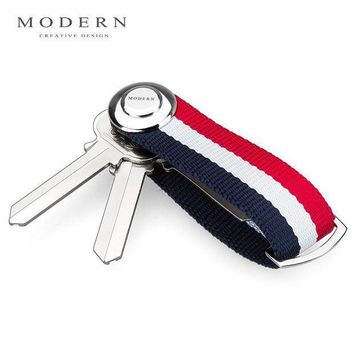 Modern   Brand New 2017 Smart Key Wallet Edc Gear Key Organizer Holder Keychain Famous Designer Creative Gift