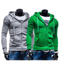 Hoodies Men Zippers Casual Men's Fashion Jacket [6528872643]