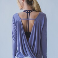 Loose breathable yoga long sleeve backless shirt Tagre™