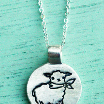 Little Silver Sheep Necklace