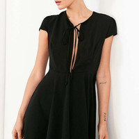 Kimchi Blue Split-Neck Fit + Flare Mini Dress - Urban Outfitters