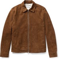 Officine Generale - Water-Repellent Suede Jacket | MR PORTER