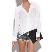 Nameless Long Sleeve Wrap Blouse at PacSun.com