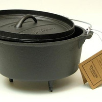 Cast Iron 4 Qt Dutch Oven with feet