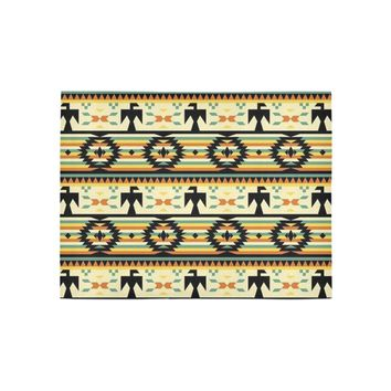 Native American Birds Pattern Area Rug 5'3''x4'