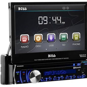 DCK4S2 BOSS Audio BV9986BI Single Din, Touchscreen, Bluetooth, DVD/CD/MP3/USB/SD AM/FM Car Stereo, 7 Inch Digital LCD Monitor, Detachable Front Panel, Wireless Remote, Multi-Color Illumination