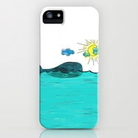 Whale and Sunny Day iPhone & iPod Case by Burcu Cetin Bali