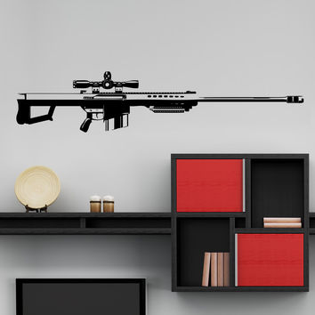 Vinyl Wall Decal Sticker 50 Cal Sniper #JH264