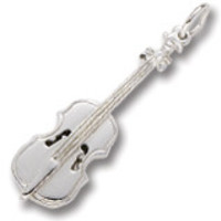Cello Charm In Sterling Silver