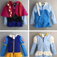 c Frozen Elsa and Anna 100% cotton long sleeve tops cartoon sweatshirts clothing baby kids hoody