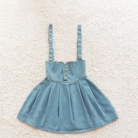 A 082705 High Waist Retro Fashion Denim Skirt Tutu