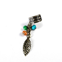 Beaded Leaf Ear Cuff