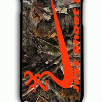 iPhone 6S Plus Case - Hard (PC) Cover with just shot it camo Plastic Case Design