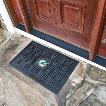 Miami Dolphins Heavy Duty Front Outdoor Mat