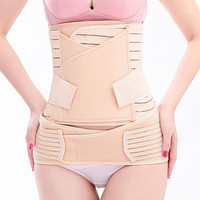 3in1 Women Postpartum Recovery Belly/Waist/Pelvis Belt Support Band Body Shaper Maternity Girdle Waist Trainer Corset Shapewear