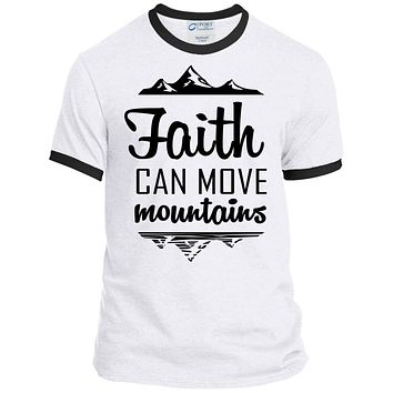 "Christian Clothing - ""Faith Can Move Mountains"" Men's Shirts"