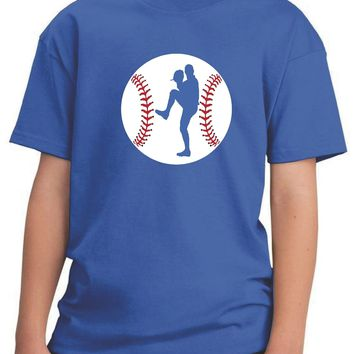 Boys Baseball Pitcher Youth Graphic Tee