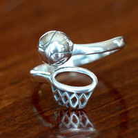 Basketball Ring, Basketball Jewelry Gift