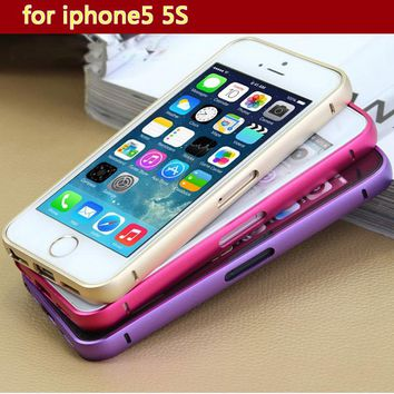 Metal Hard Bumper Frame Cases For iPhone5 5S Case for iPhone5S  Phone Protection Shell  For Apple Iphone 5 5s Mobile Phone Cover