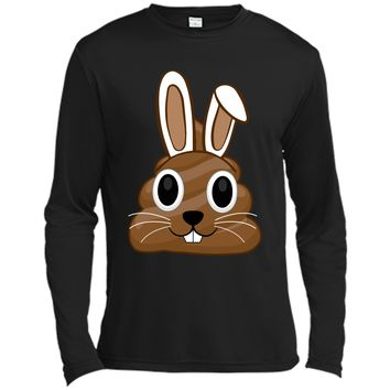Easter Bunny Poop Emojis Shirt Gift Long Sleeve Moisture Absorbing Shirt