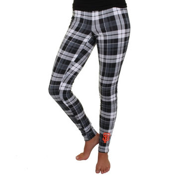 San Francisco Giants Women's Reign Stretch Plaid Leggings – Black