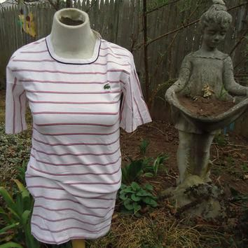 vintage DEADSTOCK Chemise LACOSTE Striped Shirt NOS