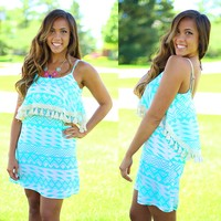 Tribal Dream Dress in Mint