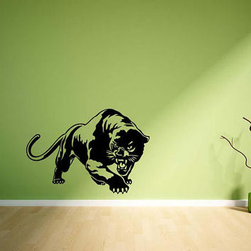 Panter wall decal, wild animal wall stickers, zoo animal wall decals, animal print wall stickers, black panther wall decals /i37