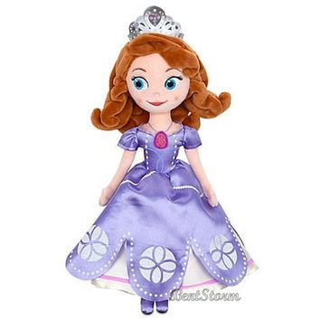 "Licensed cool 13"" Sofia The First Princess Plush Doll Once Upon Sophia with Tiara Disney Store"