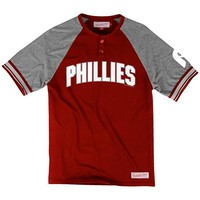 Mitchell and Ness Philadelphia Phillies Mens Short Sleeve Fashion T-Shirt - Red