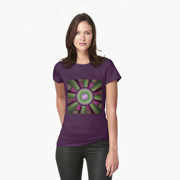 'Round and Colorful Fractal Pattern' T-Shirt by gabiwArt