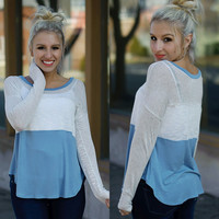 Days Like These Top (Blue) - Piace Boutique