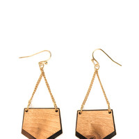 Math Whiz Pentagon Earrings