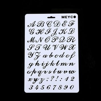 1Pc Letter Alphabet Number Layering Stencils Painting Scrapbooking Paper Cards DIY Decorative Craft