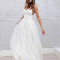 Spaghetti Straps Fairy Style Wedding Dress