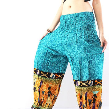 Gypsy pants womens yoga pants Harem Pants Hippie pants Boho pants one size stretchy